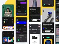 Yle Starter UI Kit - Dark Screens