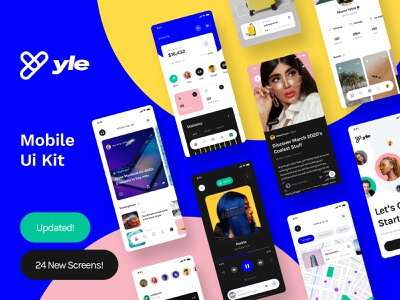 Yle UI Kit . Updated! ui8 ui kit ux user interface user experience ui mobile interface design app