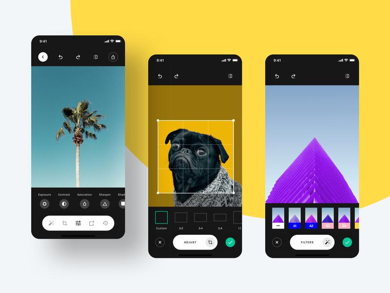 Image Editor - Yle UI Kit camera vsco photo editor image editor unsplash sketch ui8 ui kit ux user interface user experience ui mobile interface design app
