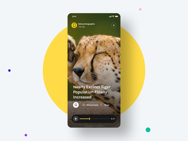 Vertical Video - Yle UI Kit newspaper news medium national geographic blog video unsplash sketch ui8 ui kit ux user interface user experience ui mobile interface design app