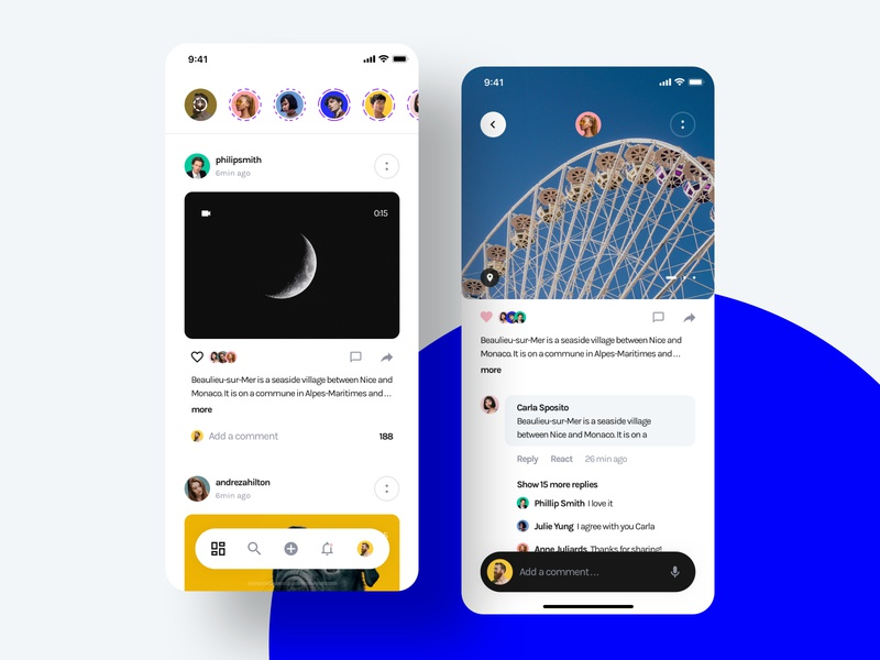 Social - Yle UI Kit home page feed photo post comment instagram social unsplash sketch ui8 ui kit ux user interface user experience ui mobile interface design app