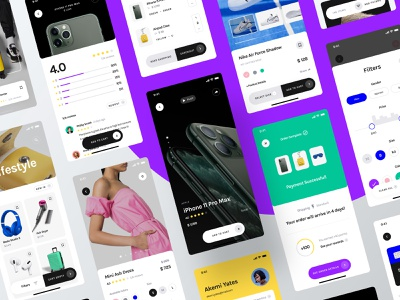 Yle Store UI Kit checkout cart product shoes tech fashion ecommerce store unsplash sketch ui8 ui kit ux user interface user experience ui mobile interface design app