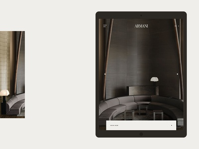 Armani Hotel - Home Tablet