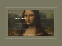 Louvre Museum - Collections Menu