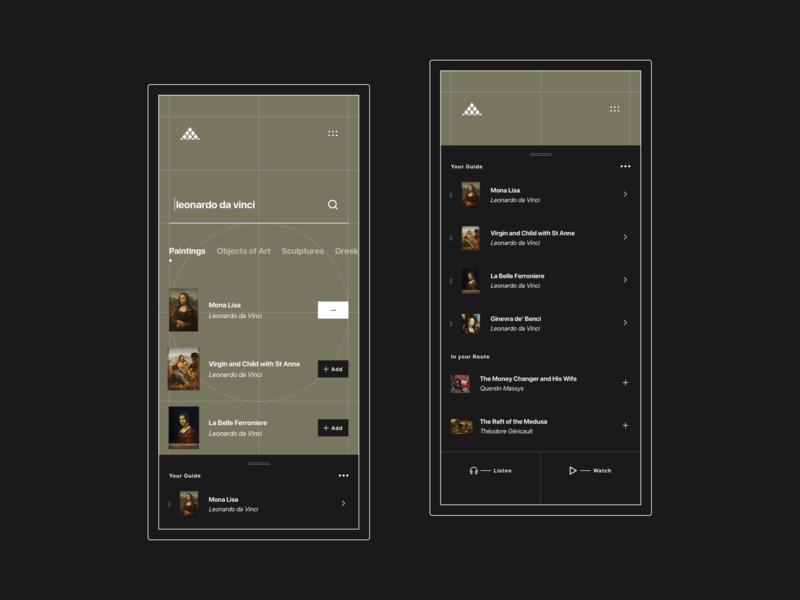 Louvre Museum - Mobile Guide Queue typography motion web design ux ui mobile concept museum louvre