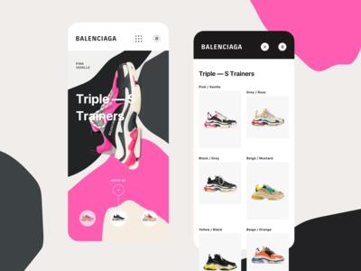 Balenciaga - Triple S Mobile