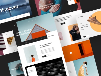 Kalli UI Kit design creative minimal hero landing download sketch uikits uikit ui