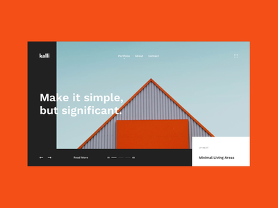 Kalli Hero unsplash creative animation download sketch design uikit ui ux web