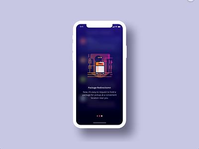 Onboarding branding ux vector illustration online store inspiration appdesign tour tech user online dark uiux ui app onboardign
