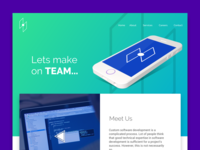 Neon Website template