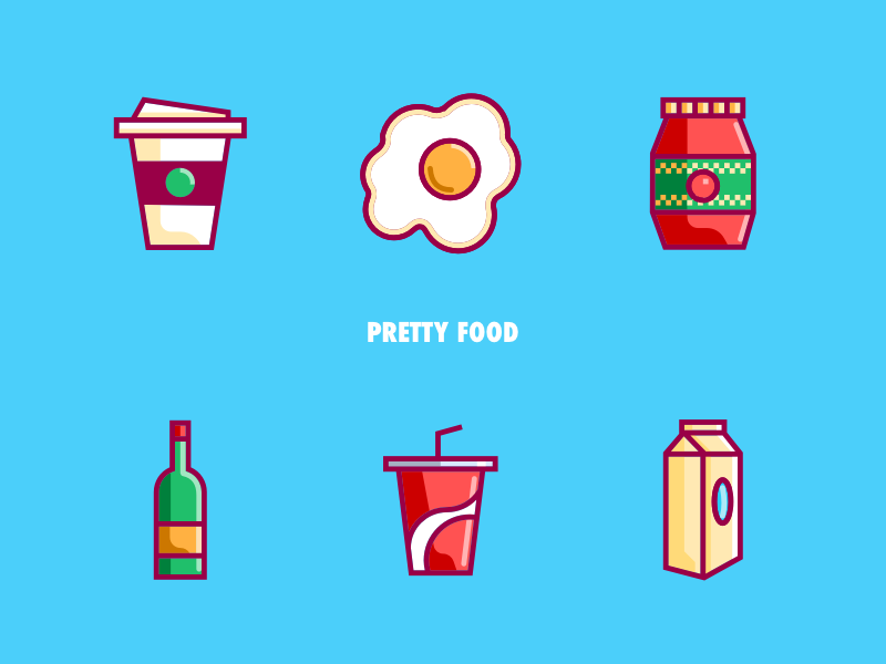 https://dribbble.com/shots/5096798-Pretty-Food-II#