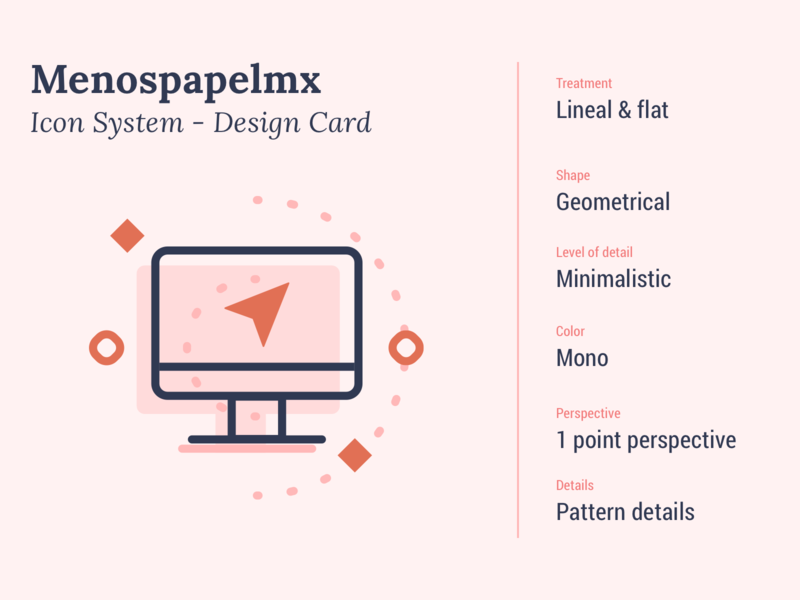 Menos Papel MX - Icons System instagram icon design graphic proeject concept card style system design iconography icon