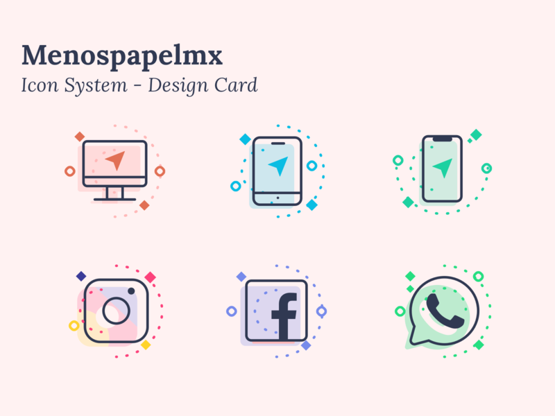 Menos papel MX - Icon system -  the set pretty device cool illustration graphic mninimalistic project ui designer mumbai icon uikit