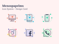 Menos papel MX - Icon system -  the set