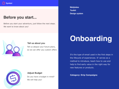 Onboarding support ux onboarding ui email design customer service contact campaign drip market email onboarding
