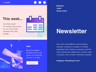 E-mail Newsletter download free illustration app news feed icon blue calendar email news newsletters uiux ui design newsletter newsfeed
