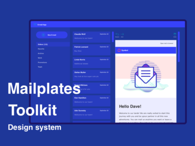 Mailplates toolkit system design toolkit designer system email mail nice branding food chart illustration ux icons app components design uiux ui