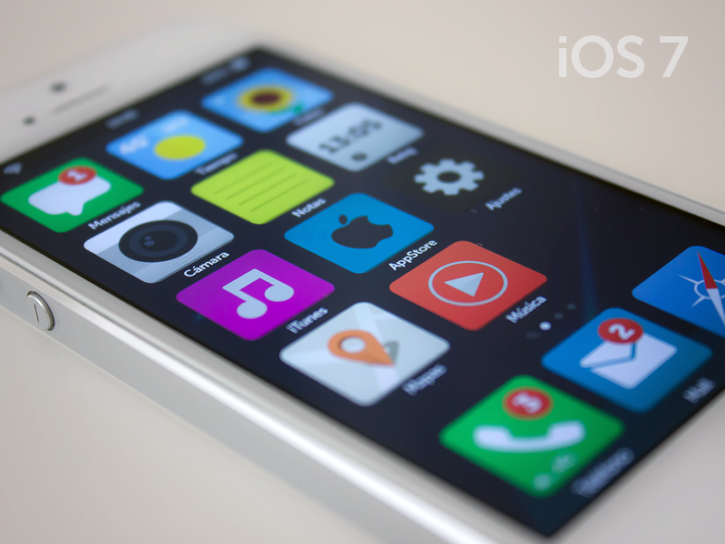 iOS 7 - Flat app flat ios ios7 iphone icon simple color iconset concept