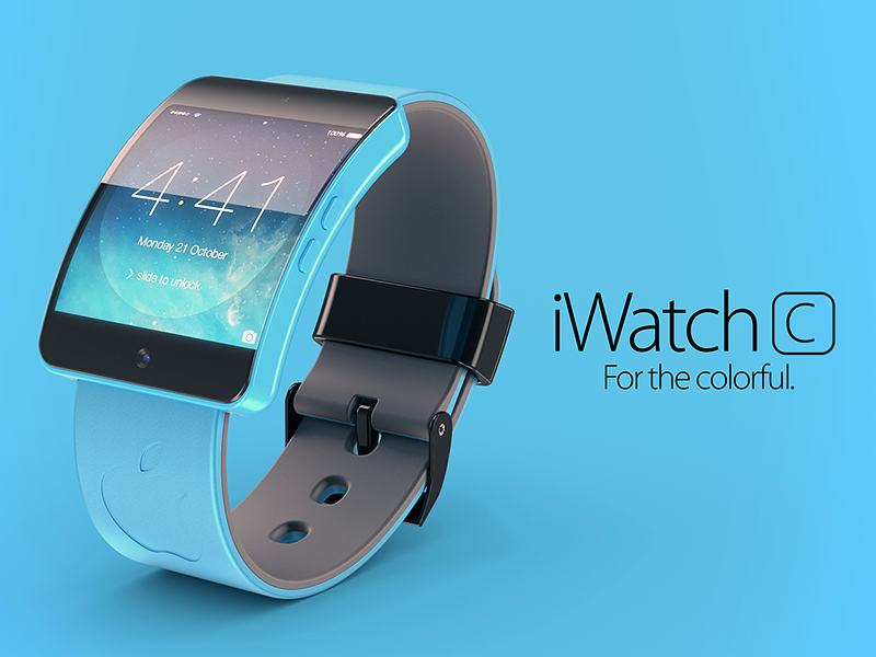 Apple iWatch C - Concept apple iwatch iwatchc prototipe 3d render clock ui design concept ios ios7