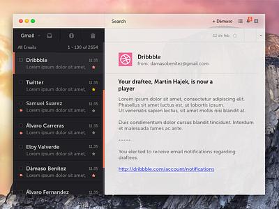 Yosemite - Gmail yosemite gmail mail mac dribbble buttons widget
