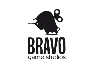 Bravo Game Logo bravo game logo bull toy illustration spanish app branding illustrator identity
