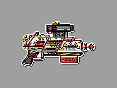 Totally Safe Ray Gun future sticker raygun ray illustration