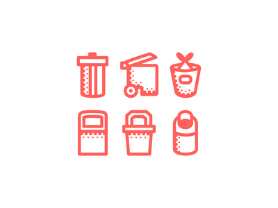 Trash Icons fresh outline simple icon clean icons rubbish red trashcan