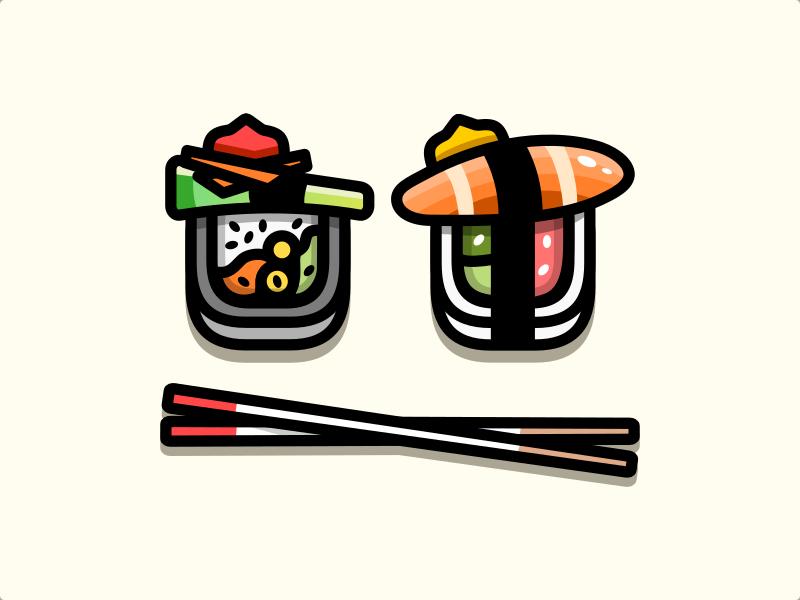 Sushi plant-based illustration japan sushi
