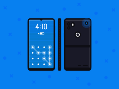 Dream Phone lock lockscreen future 410 blue dream phone