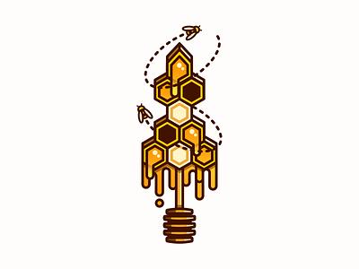 Honeycomb Sword beehive hive illustration honey honeycomb sword bees bee