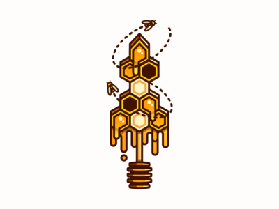Honeycomb Sword beehive hive illustration honey honeycomb sword bees bee