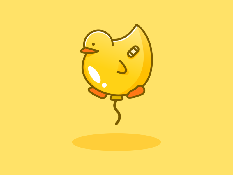Ducky happy duck ducky balloon