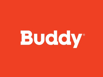 Buddy trademark identity designer identity visual identity brand design brand identity branding typography wordmark logo design logotype logo