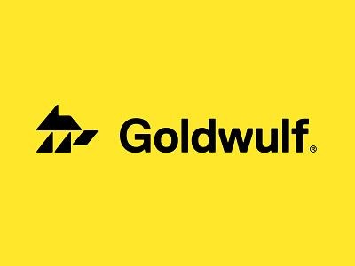 Goldwulf Logotype wolf icon logo minimal brand wordmark typography film commercial cinematic production identity designer identity visual identity brand identity brand design branding logo design logotype