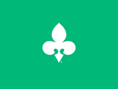 Fleur-de-lis flower trademark brand identity branding brand minimal icon logo design logo