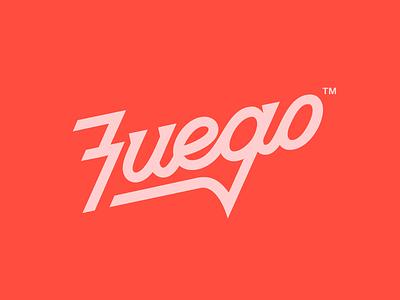 Fuego wordmark identity design identity brand identity brand design branding brand logo design logotype logo typography type hand lettering lettering custom type