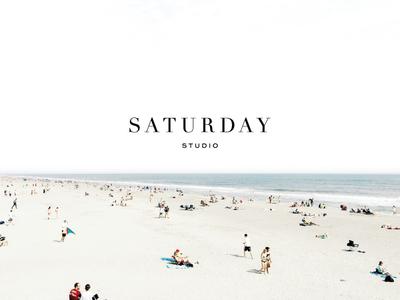 Saturday Studio classic modern identity logo branding charleston graphic design beach studio saturday