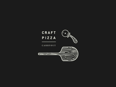 Pizza Forever icon charleston pizza cutter pizza peel type pizza illustration