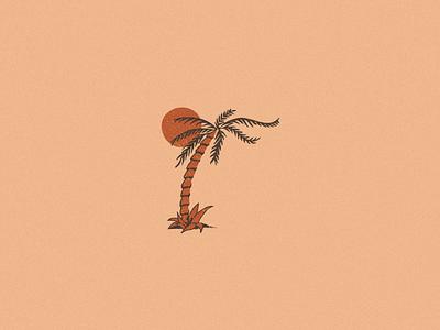 Tiki texture icon illustration tiki luau hawaii sunset palm