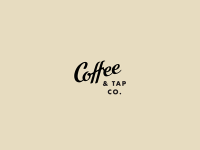 Coffee & Tap Co. chicago submark coffee shop coffee script custom lettering tagline branding typography