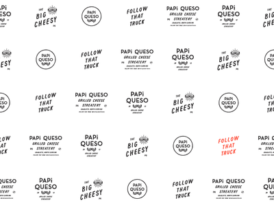 Papi Queso III typography print photography lettering graphic design collateral branding