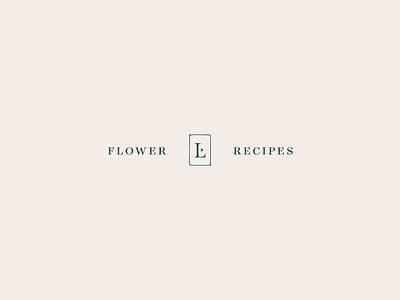 Flower Recipes social media recipe collateral branding sub mark typography
