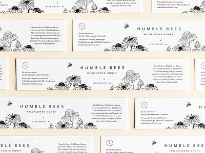 Wildflower Honey II the netherlands packaging design packaging label illustration honey bee honey
