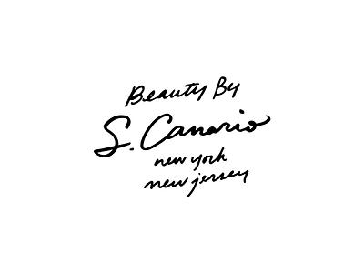 S. Canario script custom script hand lettering lettering wip identity typography branding