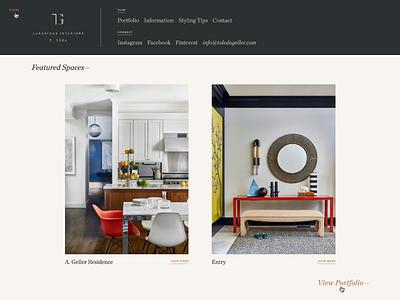 TG navigation portfolio interior design interiors ui ux web design website wip