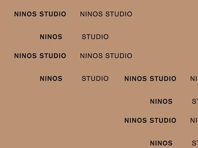 Ninos idenity sans serif brand development wip typography branding
