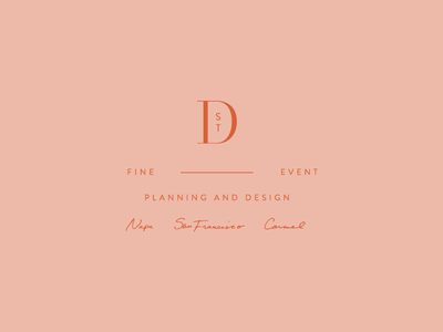D St script monogram identity brand development wip typography branding