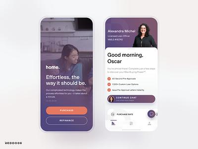 RedDoor Home visualdesign uidesign mobile ios app ux ui