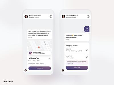 RedDoor Instant Refinance visualdesign uidesign mobile ios app ux ui