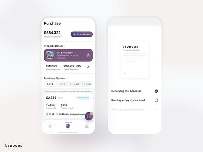 RedDoor Home Purchase visualdesign uidesign mobile ios app ux ui